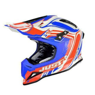 JUST1 Helm J12 Flame Red-Blue