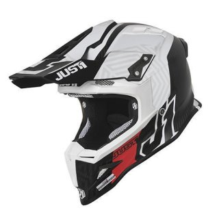 JUST1 Helm J12 Syncro Carbon White