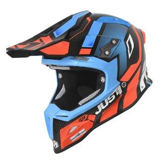 JUST1 Helm J12 Vector Orange-Blue Carbon