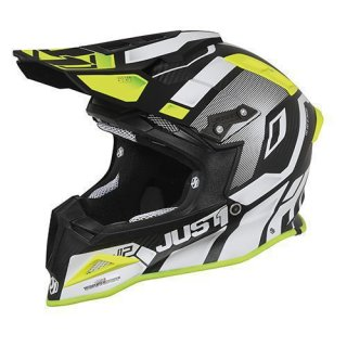 JUST1 Helm J12 Vector White-Yellow Fluor-Carbon