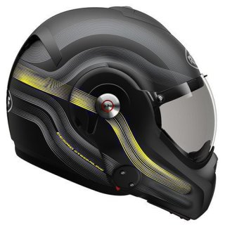 ROOF Helm Desmo Streamline Matt Black-Steel-Yellow Fluo