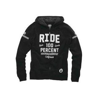 """FLAT TRACK"" hooded Sweatshirt 100% Black M"