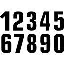 Zahlen Aufkleber #0 16X7.5CM BK
