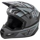 Fly Racing Helm Elite Guild matt-grau-schwarz