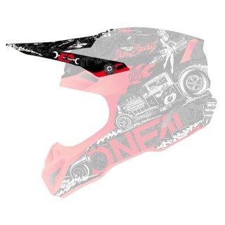Oneal Ersatzvisier 5SRS Polyacrylite Helm HR schwarz/rot