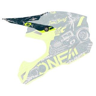 Oneal Ersatzvisier 5SRS Polyacrylite Helm HR blau/neon gelb