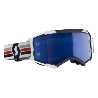Scott MX Brille Fury - blue/white/electric blue chrome works