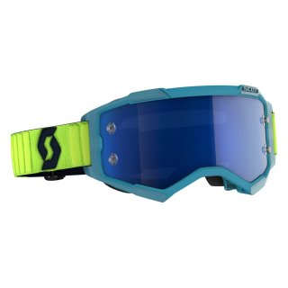 Scott MX Brille Fury - teal blue/neon yellow/electric...