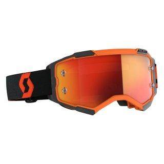 Scott MX Brille Fury - orange/black/orange chrome works