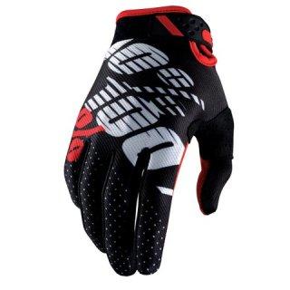 100% Ridefit Handschuhe schwarz-rot Gr. S