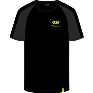 VR46 T-Shirt (MOMTS358804) Monster Dual black-2019