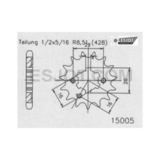 Esjot Ritzel Rm 85 83-05 13Zähne Z-2813-15005