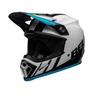 Bell MX-9 Mips Helm weiss blau