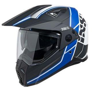iXS Endurohelm 208 2.0 schwarz matt-weiss-blau