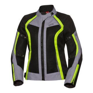iXS Damen Jacke Sport Andorra-Air schwarz-grau-gelb