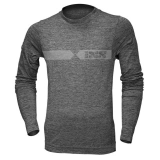iXS Funkt.-Shirt Langarm Melange hell Grau-dunkel grau,