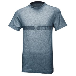 iXS Funkt.-Shirt Melange weiss-blau