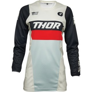Thor Womens Pulse Racer Jersey Vintage White/Midnight