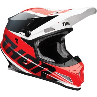 Thor Sector Fader Helm Red/Black
