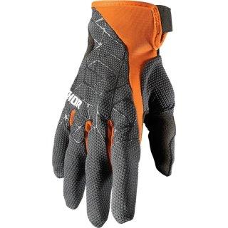 Thor Draft Handschuhe Charcoal/Orange