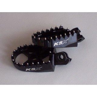 KSX Fussrasten Suzuki Aluminium Rmz450 08-09 Schwarz