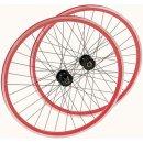 Point Point Laufradsatz Single Speed 700C Rot/Schwarz