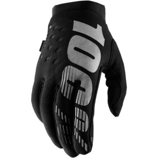 100% Brisker Handschuhe Schwarz/Grau Frauen