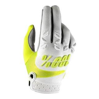 100% Airmatic Handschuhe Weiß/Neon Gelb