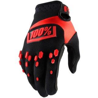 100% Airmatic Handschuhe Schwarz/Rot