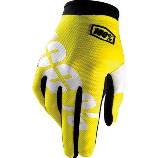 100% Handschuhe Itrack Kinder Gelb