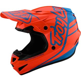 TLD GP Silhouette Motocrosshelm Orange/Blau