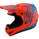 TLD GP Silhouette Motocrosshelm Orange/Blau