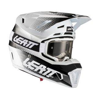 Leatt Helm inkl. Brille 7.5 V21.1 weiss-schwarz