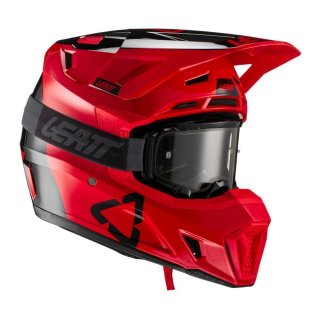 Leatt Helm inkl. Brille 7.5 V21.2 rot-schwarz