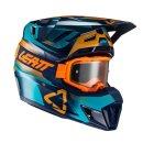 Leatt Helm inkl. Brille 7.5 V21.3 blau-gelb