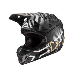 Leatt Helm GPX 5.5 Composite schwarz-weiss-gold