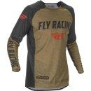 Fly Racing Hemd Evolution DST khaki-schwarz-rot
