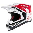 Alpinestars Helm Sm8 Triple Rd/Wt