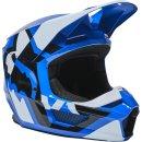 Fox V1 Lux Helm, Ece [Blu]