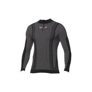 SIXS Funktionsshirt-langarm mit Zip Kragen Blazefit TS13W schwarz-rot