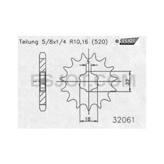 Esjot Ritzel Kx 125 13Zähne Z-3113-32061