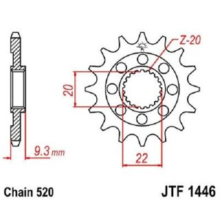 JT Ritzel Rmz 13- 13 Zähne JTF1443.13SC