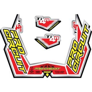 Pro Circuit Auspuff Aufkleber Ti-4R Race System DC09TI4R