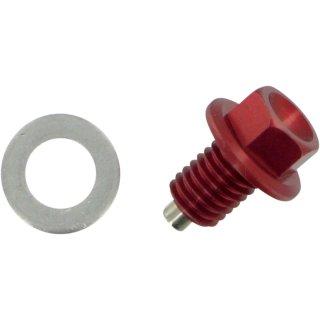 Moose Racing Drain Plug Magnetic Red DP110