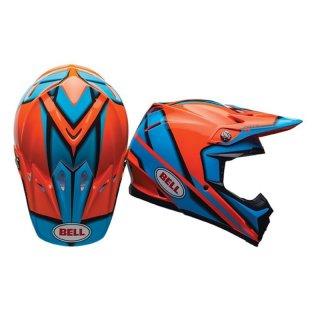 Bell Spark Orange Helm Moto 9 L