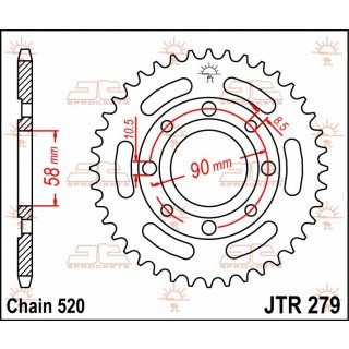 JT Kettenrad 31T 520 JTR279.31