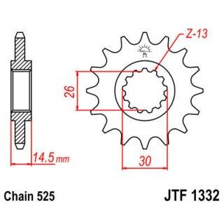 JT FRONT SPROCKET 525 14T