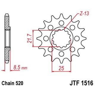 JT FRONT SPROCKET 520 17T