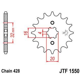 JT FRONT SPROCKET 428 13T
