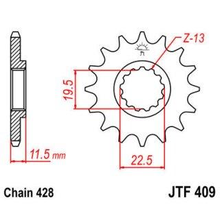 JT FRONT SPROCKET 428 15T